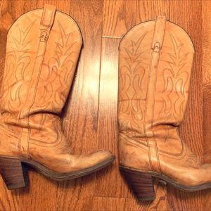 Miss Capezio Western Cowboy Boots, TAN: SZ 8.5
